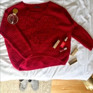 Red Sweater with a big Heart in the front